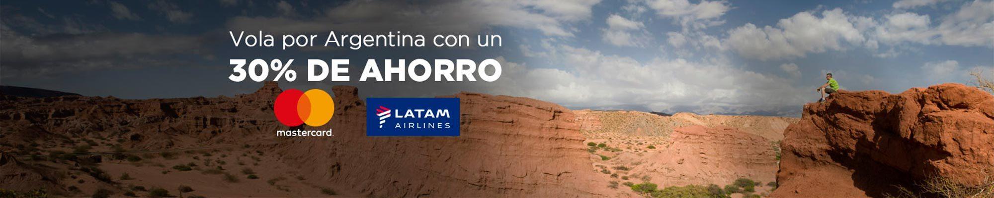 Descuento 30% con Latam para volar en Argentina con Mastercard