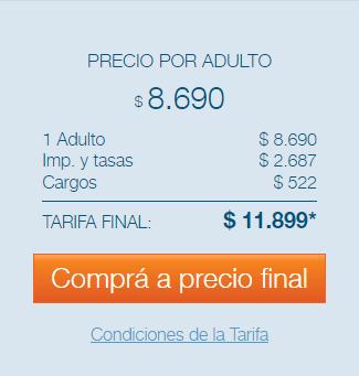 precios vuelos Buenos Aires Washington Marzo, Abril y Mayo de 2017 por Interturis