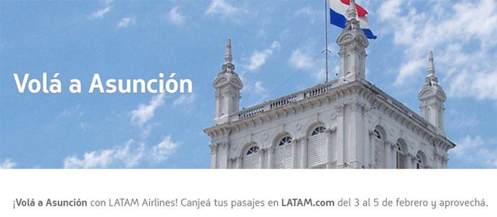 Vuelos Asunción Latam Pass Febrero 2017