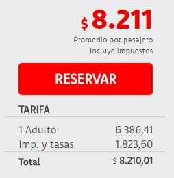Precios Montevideo - Oranjestad Aruba para Mayo, Agosto y Septiembre de 2017 por Transatlántica
